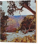 Grand Canyon National Park - Winter On South Rim Wood Print