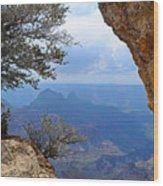 Grand Canyon North Rim Window in the Rock Wood Print