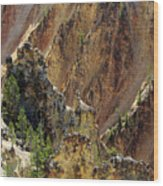 Grand Canyon Of The Yellowstone From North Rim Drive Wood Print