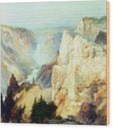 Grand Canyon Of The Yellowstone Park Wood Print by Thomas Moran