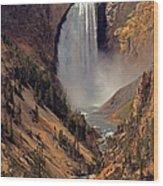 Grand Canyon Of The Yellowstone Wood Print by Robert Pilkington