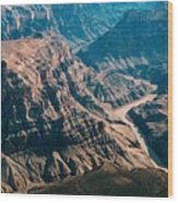 Grand Canyon River Wood Print