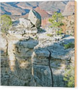 Grand Canyon Rock Formations, Arizona Wood Print