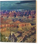 Grand Canyon Storm Wood Print