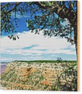 Grand Canyon View From South Rim Overlook Wood Print