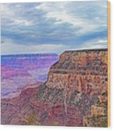 Grand Canyon Village Panorama Wood Print
