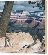 Grand Canyon Winter Wood Print