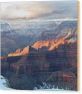 Grand Canyon With Snow Wood Print