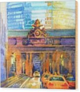 Grand Central Before Six, Driver Wood Print