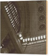 Grand Central Rosettes Wood Print
