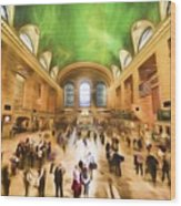 Grand Central Rush     Go2 Wood Print