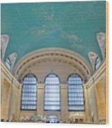 Grand Central Rush Wood Print