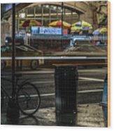 Grand Central Terminalfood Carts Wood Print