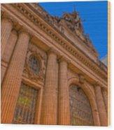 Grand Central Terminal - Chrysler Building Wood Print