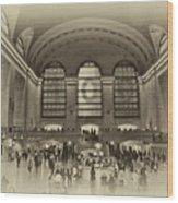 Grand Central Terminal Vintage Wood Print