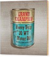 Grand Champion Motor Oil Wood Print