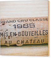 Grand Cru Classe Bordeaux Wine Cork Wood Print
