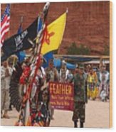 Grand Entry At Star Feather Pow-wow Wood Print