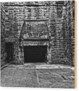 Grand Fireplace Wood Print