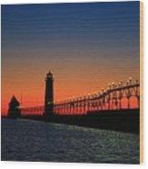 Grand Haven Light House Wood Print