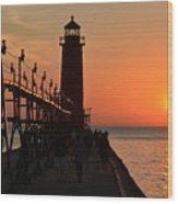 Grand Haven Light Wood Print