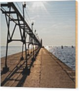 Grand Haven Pier Wood Print