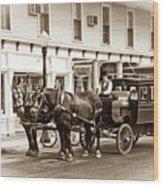 Grand Hotel Shuttle 10331 Wood Print