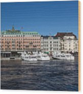 Grand Hotel Stockholm Wood Print