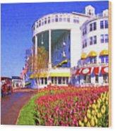Grand Hotel Tulips Wood Print