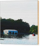 Grand Lake Boat Dock Wood Print