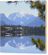 Grand Lake Co Mt Baldy From Shadow Mtn Lake Wood Print
