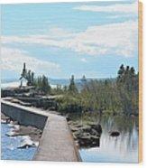 Grand Marais Breakwater Wood Print