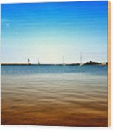 Grand Marais Harbor Wood Print