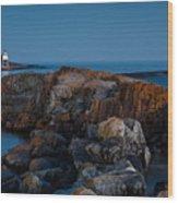 Grand Marais Lighthouse Wood Print