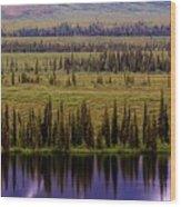 Grand Mountain Reflections Wood Print