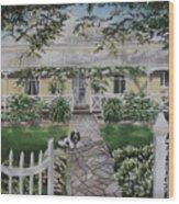 Grand Old Home Wood Print