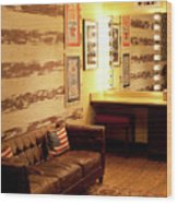 Grand Ole Opry House Backstage Dressing Room #5 In Nashville, Tennessee. Wood Print