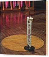 Grand Ole Opry House Stage Flooring - Nashville, Tennessee Wood Print