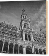 Grand Place Architecture Brussels  Wood Print