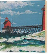 Grand Point Lighthouse Wood Print