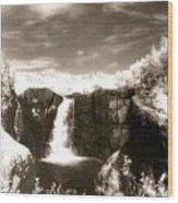 Grand Portage Falls Wood Print