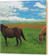 Grand-pre Horses Wood Print