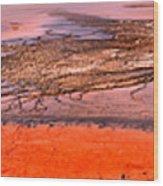 Grand Prismatic Algae Mat Panorama Wood Print