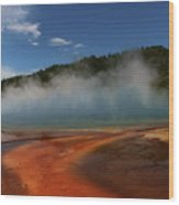Grand Prismatic Spring At Yellowstone's Midway Geyser Basin Wood Print