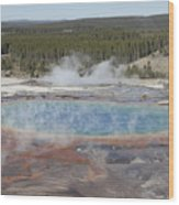 Grand Prismatic Spring, Midway Geyser Wood Print