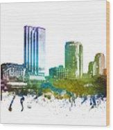 Grand Rapids Cityscape 01 Wood Print