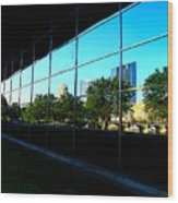 Grand Rapids Mi On Glass-12 Wood Print