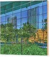 Grand Rapids Mi On Glass-18 Wood Print
