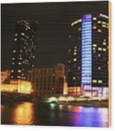 Grand Rapids Mi Under The Lights-4 Wood Print