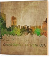 Grand Rapids  Michigan Wood Print